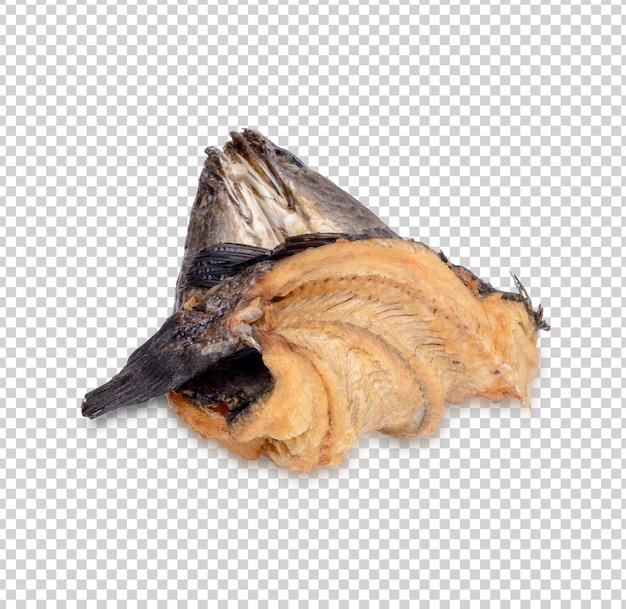 Suszona ryba wężogłowa na białym tle premium psd
