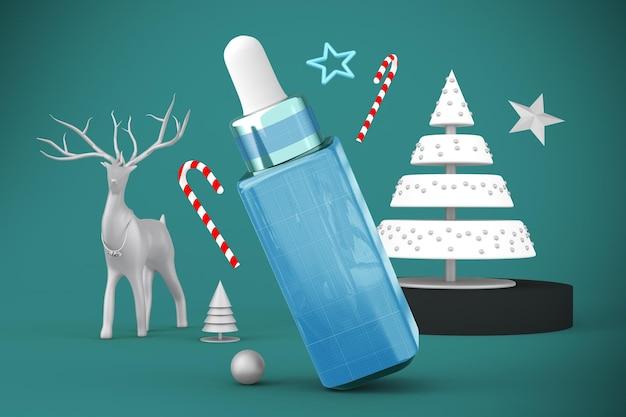 Świąteczna butelka z zakraplaczem