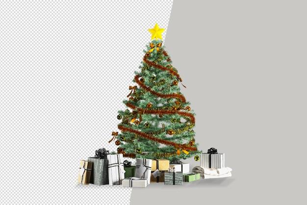 Świąteczna dekoracja w pokoju renderowania 3d