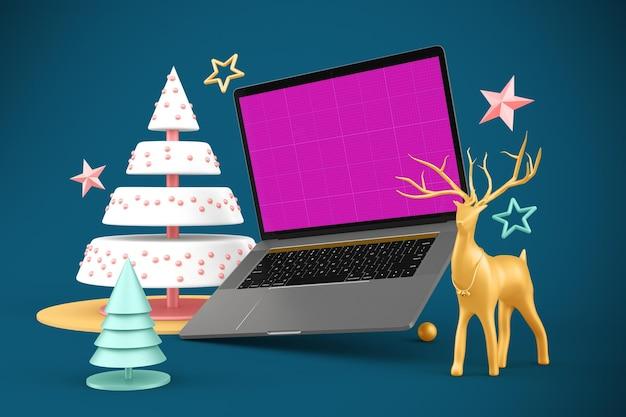 Świąteczna makieta strony internetowej