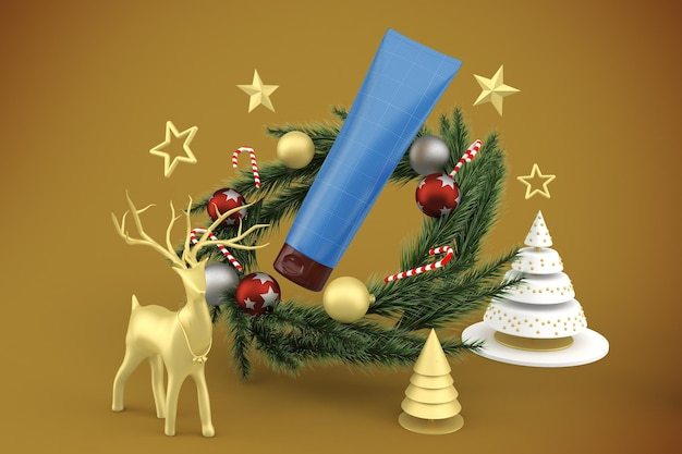 Świąteczna tubka z kremem