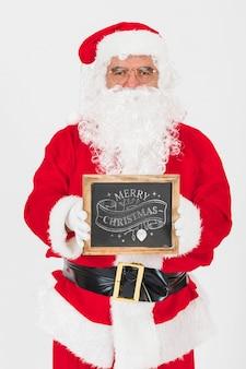 Świąteczna wyprzedaż makieta z santa