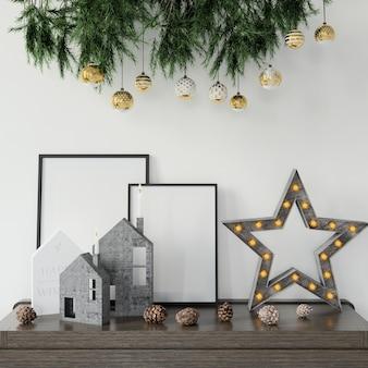 Świąteczne dekoracje na stole
