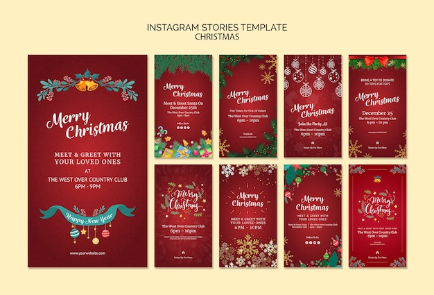 Świąteczne historie na instagramie