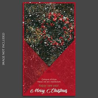 Świąteczne i szczęśliwego nowego roku 2019 makieta zdjęć i szablon na instagramie