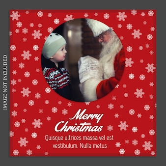 Świąteczne i szczęśliwego nowego roku photo mockup i instagram post template for social medi