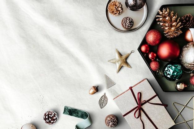 Świąteczne ozdoby świąteczne rama wystrój