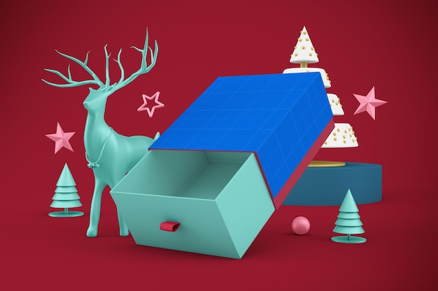 Świąteczne pudełko na prezent