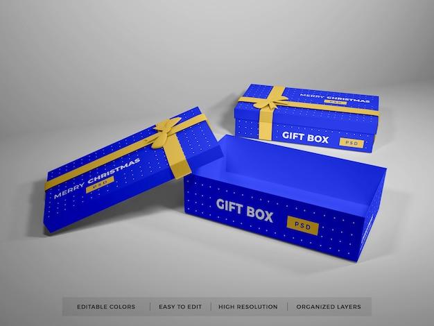 Świąteczne pudełko z makietą wstążki