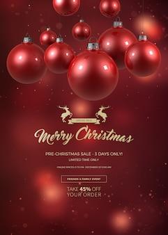 Świąteczny baner na sprzedaż