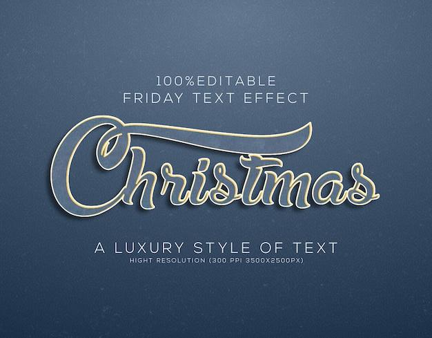 Świąteczny efekt tekstowy