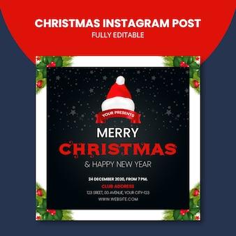Świąteczny post na instagramie kreatywny