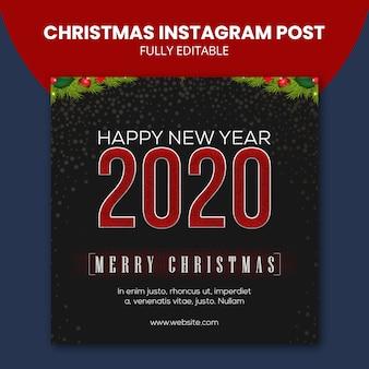 Świąteczny post na instagramie