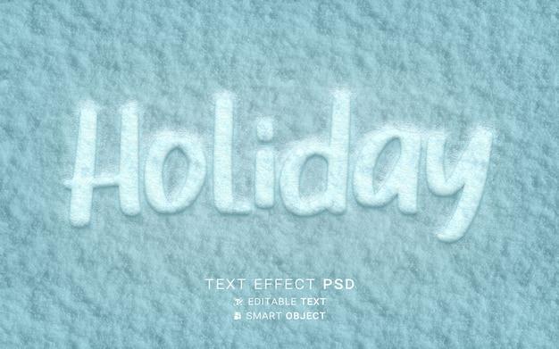 Świąteczny świąteczny efekt tekstowy