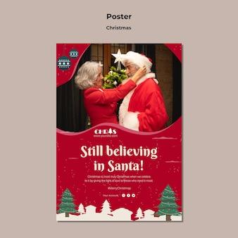 Świąteczny świąteczny szablon wydruku pionowego