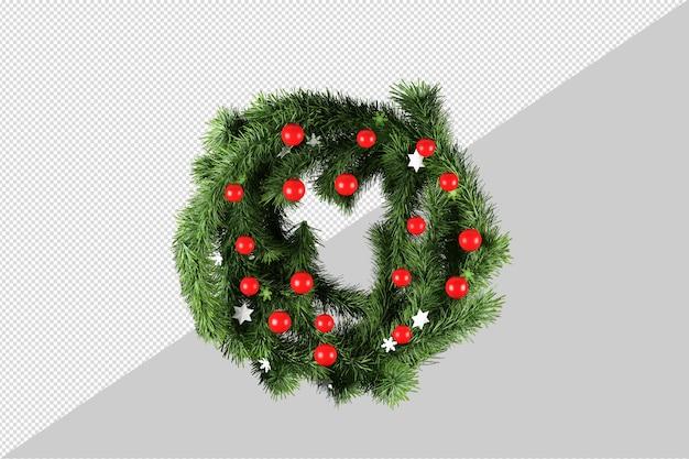 Świąteczny wieniec dekoracyjny w 3d renderowany