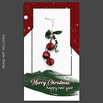 Święta bożego narodzenia i szczęśliwego nowego roku 2019 makieta zdjęć i historia na instagramie