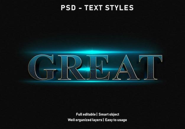 Świetny styl efektu tekstu