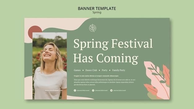 Święto wiosny ma szablon transparentu