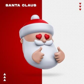 Święty mikołaj emoji w renderowaniu 3d