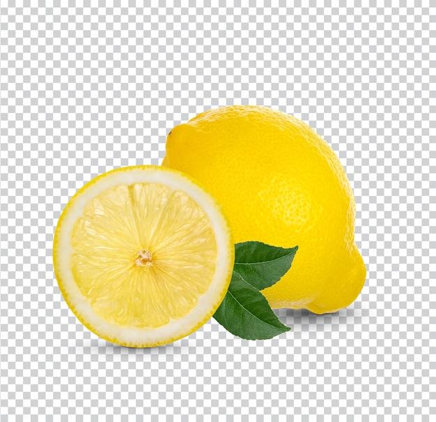 Świeża cytryna na białym tle