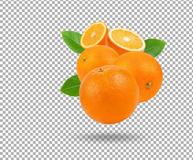 Świeża pomarańcza na białym tle