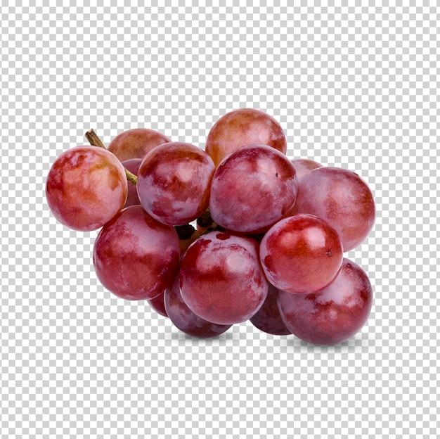 Świeże czerwone winogrona izolowane premium psd
