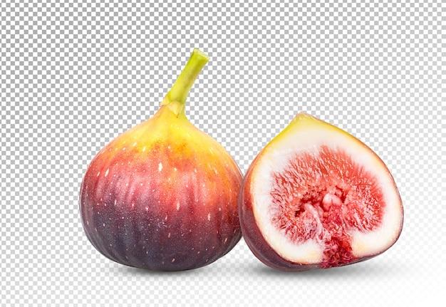 Świeże figi na białym tle