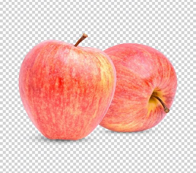 Świeże jabłko na białym tle premium psd