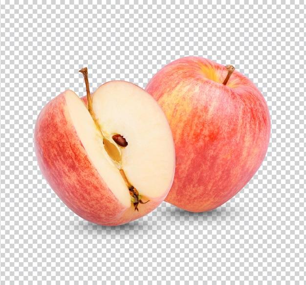 Świeże jabłko na białym tle
