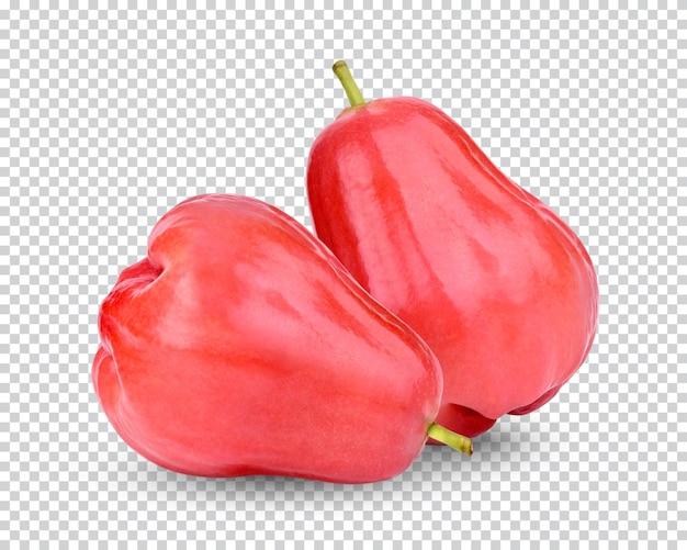 Świeże jabłko różane na białym tle
