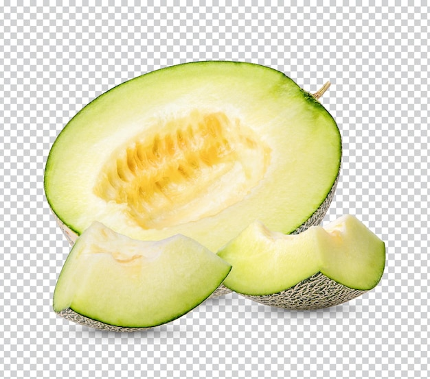 Świeże japońskie melony na białym tle premium psd