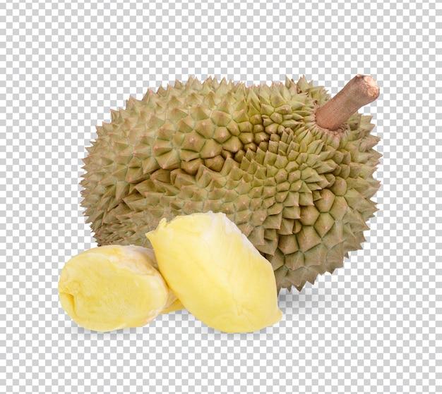 Świeże owoce durian na białym tle