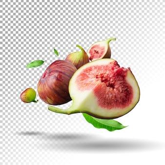 Świeże owoce fig na białym tle