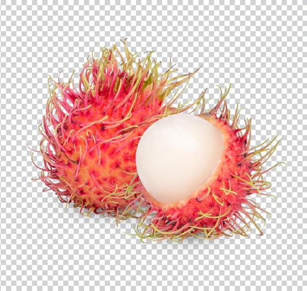 Świeże owoce rambutanu na białym tle