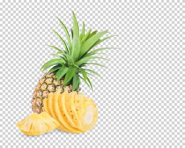 Świeży ananas na białym tle premium psd