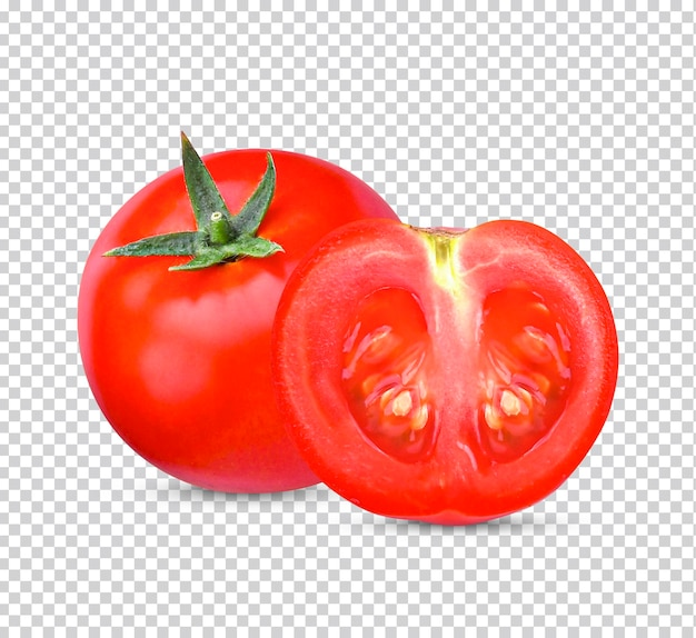 Świeży pomidor na białym tle