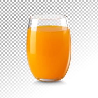 Świeży sok pomarańczowy na białym tle
