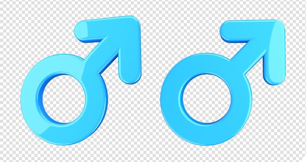 Symbol człowiek mężczyzna płeć renderowanie 3d