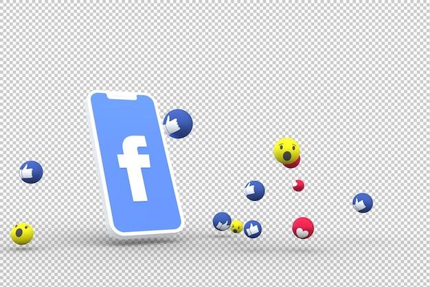 Symbol facebooka na ekranie smartfona