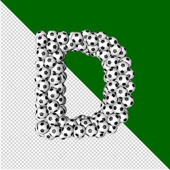 Symbol kolekcji piłki nożnej. 3d litera d