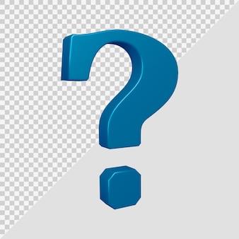 Symbol znaku zapytania w renderowaniu 3d