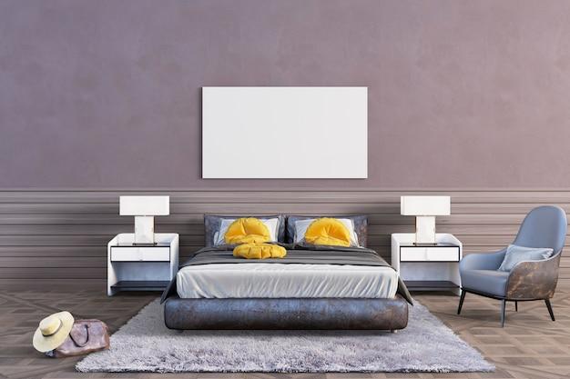Sypialnia z brązowymi tonami