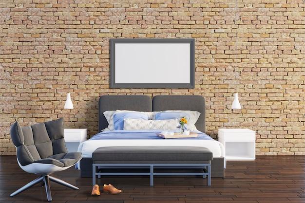 Sypialnia z murem
