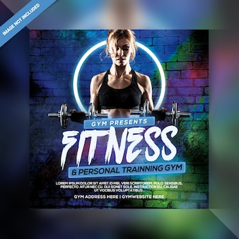Szablon baner społecznościowy fitness