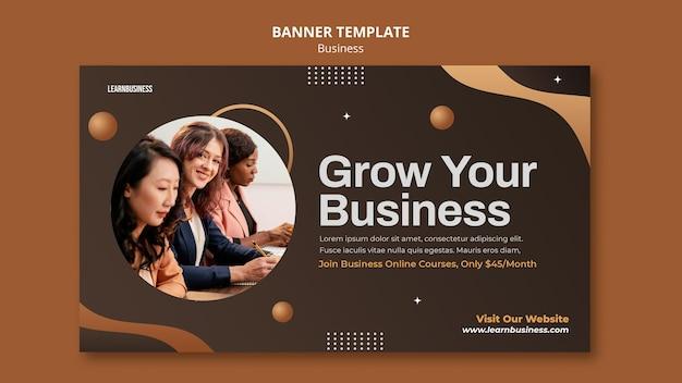 Szablon banera biznesowego ze zdjęciem