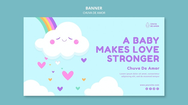 Szablon banera chuva de amor