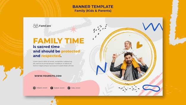 Szablon banera czasu rodzinnego