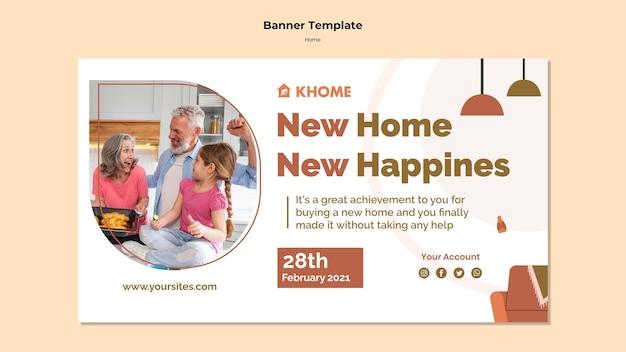 Szablon banera dla nowego domu rodzinnego