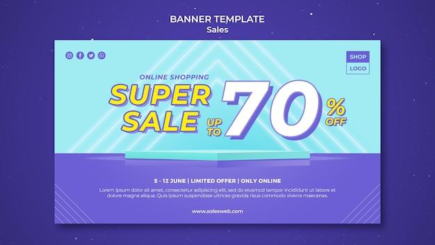 Szablon banera do super sprzedaży